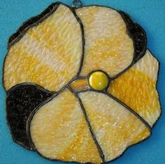 Stained Glass Hibiscus (Textured Yellow)