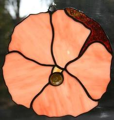 Stained Glass Hibiscus (Peach)