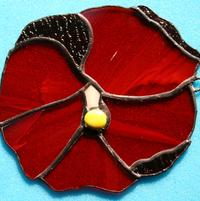 Stained Glass Hibiscus (Red)
