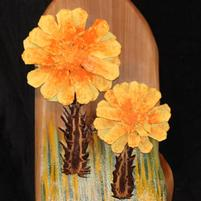 RG Yellow Mum Tiki Wall Hanging