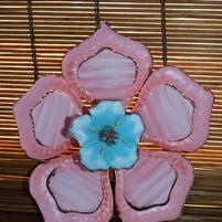 Metal Hibiscus Wall Hanging