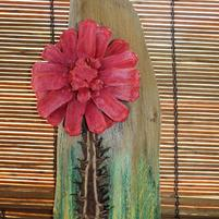 RG Red Mum Tiki Wallhanging