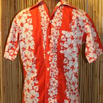 Hawaiian Shirt with Hibiscus '0'