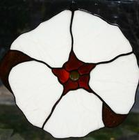 Stained Glass Hibiscus (White)