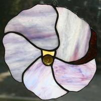 Stained Glass Hibiscus (Purple)