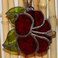 Stained Glass Hibiscus (Red 6