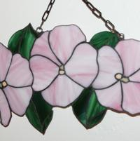 Triplet Hibiscus Stained Glass Pink