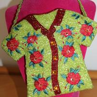 Hibiscus purse Beaded