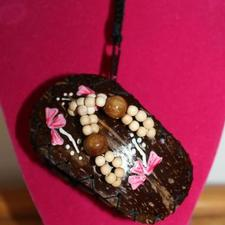 Coconut Hibiscus Shoe Necklace
