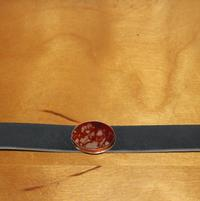 Leather bracelet with oval semi precious stone by NAC