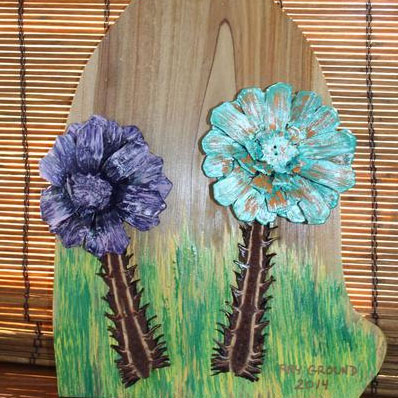 RG Light Blue and Purple Mum Wallhanging '0'