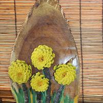 RG-4 Yellow Mum Wallhanging '0'