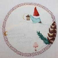 Gnome Towel with Lantern in Snow 5