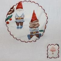 Gnome Towel with wood pile 5