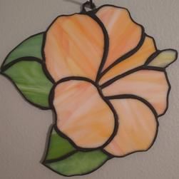 Stained Glass Hibiscus 6