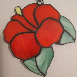 Stained Glass Hibiscus 4