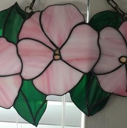 Stained Glass Hibiscus Trio 15