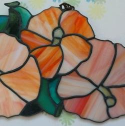 Stained Glass Hibiscus Trio 11