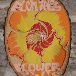 Fleming's Flower Fields Painted Wood Slice