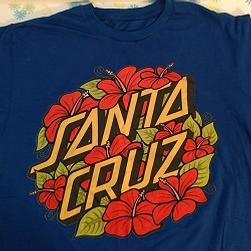 Shirt Santa Cruz Skateboards With Hibiscus