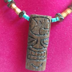 Tiki Necklace Skull Beads