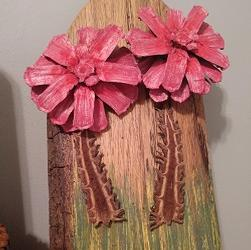 RG 2 Pink Double Mum Wall Hanging '0'