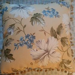 Bark Cloth Pillow Yellow 16